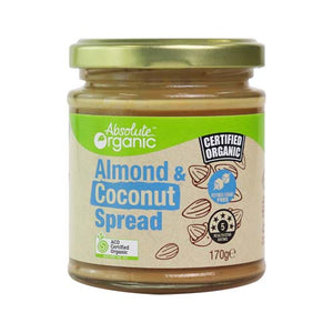 Almond & Coconut Spread 170g ( Bulk x6) Absolute Organic ACO.. Price $12.01 each
