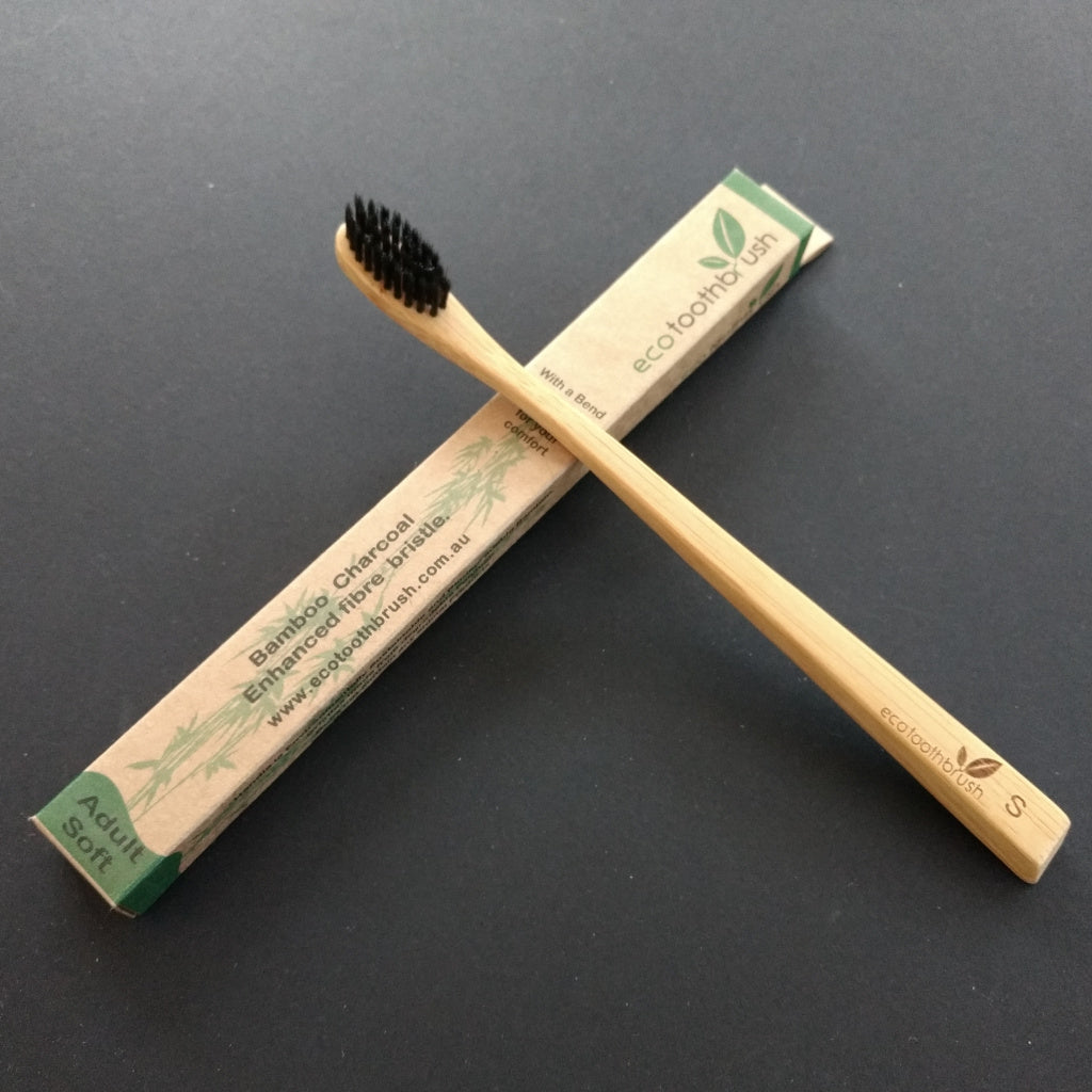 Eco Bamboo Charcoal Toothbrush Adult Soft