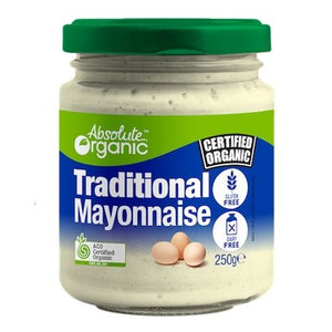 Mayo Traditional 250g (Bulk x6) Absolute Organic ACO. Price $6.99 each