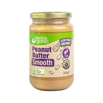 Peanut Butter Smooth 350g (Bulk x6) Absolute Organic ACO. Price $7.69 each
