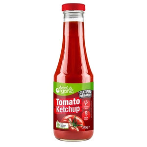 Sauce Tomato Ketchup 340g (Bulk x6) Absolute Organic ACO. Price $5.59 each