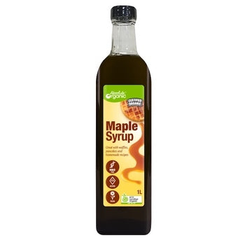 Syrup Maple Pure 1L (Bulk x6) Absolute Organic ACO. Price $36.25 each
