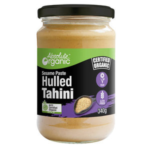 Tahini Hulled 340g (Bulk x6) Absolute Organic ACO . Price $8.25 each
