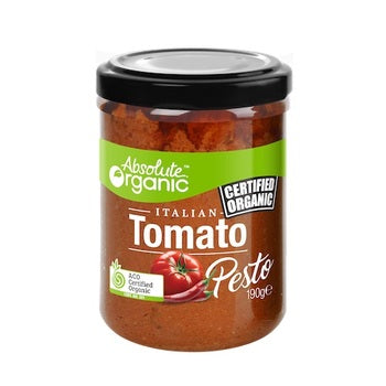 Traditional Tomato Pesto 190g (Bulk x6) Absolute Organic $6.71 each