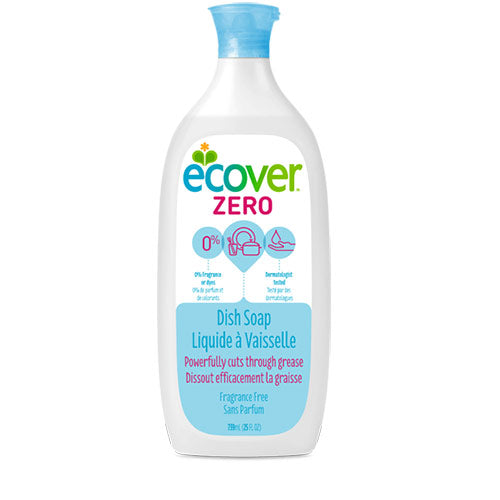 Wash-Up Liquid Zero 500ml Ecover (Bulk x12) $4.62 each ( no longer available, supersede)
