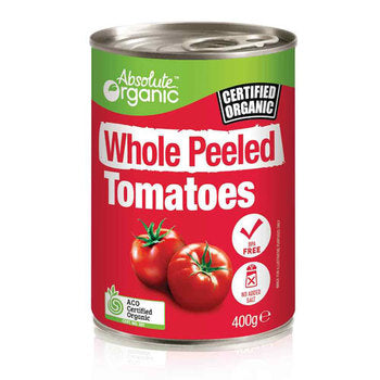 Organic Whole Peeled Tomatoes 400g Absolute Organic