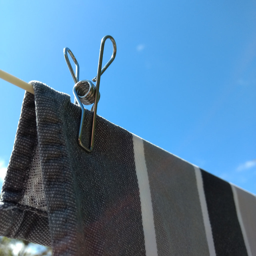 Stainless Steel Wire Pegs - Marine Grade in Hemp bag ( for salty air environments )