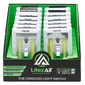 20756 LA-SWITCH-12/48 LitezAll COB LED Cordless Light Switch