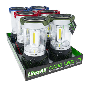 21760 LA-COBDIM-6/12 LitezAll COB LED Lantern with Dimmer
