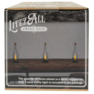 22620 - LA-WNED-6 LitezAll LED Edison Bulb Wine Bottle Accent Lamp