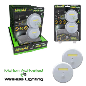 23054 - LitezAll Motion Activated Puck Light 2 Pack