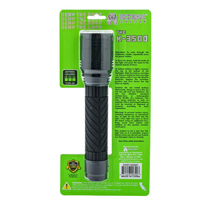 23207 - K-3500GRP-6/12 Kodiak 3500 Lumen Rubber Grip Tactical Flashlight