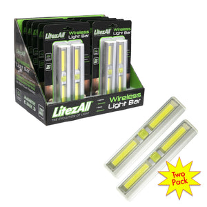 21340 LA-COBCABx2-10/20 LitezAll COB LED Wireless Light Bar 2 Pack