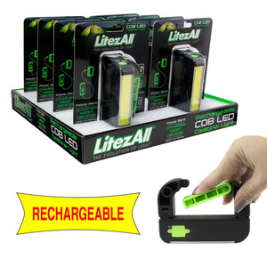 22156 LA-LATCHLITE-8/32 LitezAll COB LED Rechargeable Carabiner Light