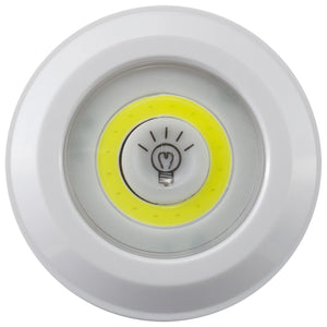 22132 - LA-RMTCBPKx2-8-24 LitezAll RC COB LED Puck Lights 2 Pack