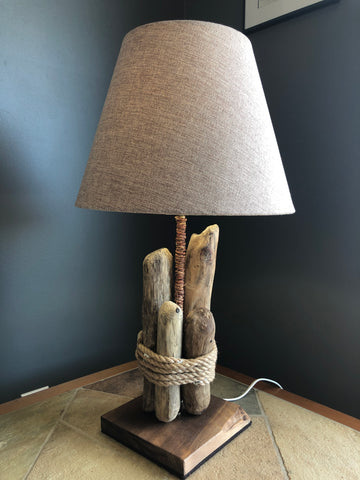 Lamp - Roped together - SOLD - [product_type - Carole Davis - Aqua Terre Artisans