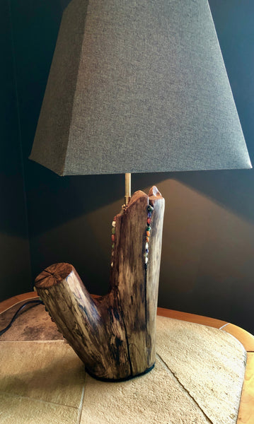 Lamp - with jewels - SOLD - [product_type - Carole Davis - Aqua Terre Artisans