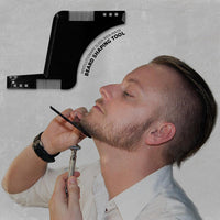 BEARD SHAPING STYLING TOOL Template Shaper Stencil Symmetry Trimming Beard Comb