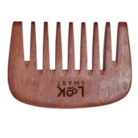 Look Smart-Wide teeth streaker Natural wood handmade  Beard pocket Comb