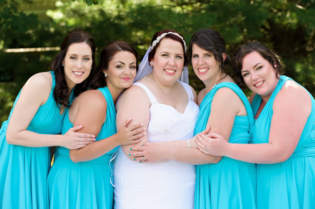 Teal Convertible Dress/Custom Size & Length/Plus Size & Maternity ...