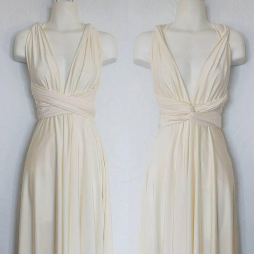 Ivory Convertible Dress/Custom size, length/Maternity & Plus size included