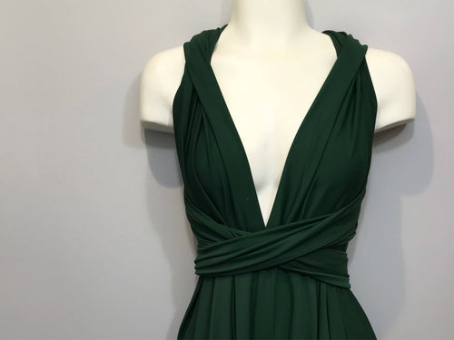 Hunter Green Convertible Dress