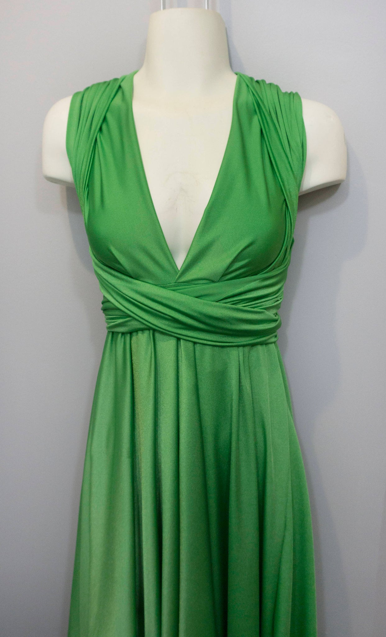 cf8540513b ... Apple Green Convertible Dress Custom size Maternity   Plus size included