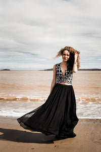 Full length soft tulle skirt/Custom Made in Canada