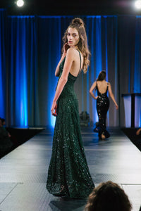Hollywood Sequins Evening Gown
