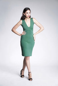 Hunter Green Ruffle Bum Bodycon