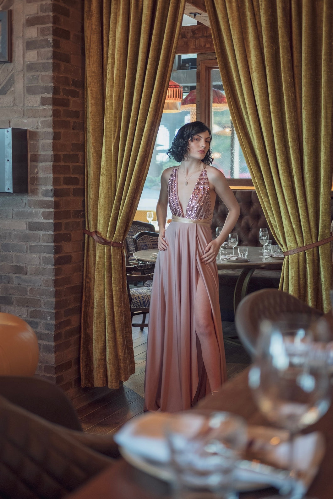 Walk with panache :  Evening Gown