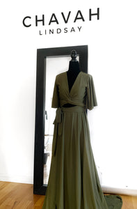 Full length Wrap Top Gown