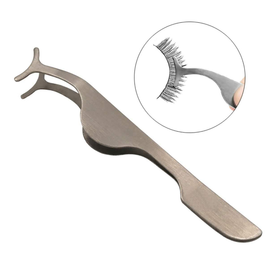 Stainless Steel Eyelash Tweezer