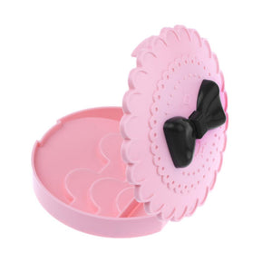 1PC Pink Cute Bow False Eyelashes Container Storage Box