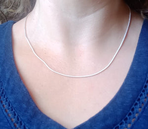 *** SPECIAL *** 5Pcs + 1 FREE x 925 Silver Necklace, Silver Snake Chain