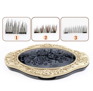 3D Magnetic Eyelashes Dual Triple Magnet - NO GLUE