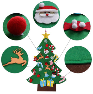 Felt Christmas Tree Decorations For Home + Mini Christmas Tree, Kids DIY Christmas Tree Ornaments