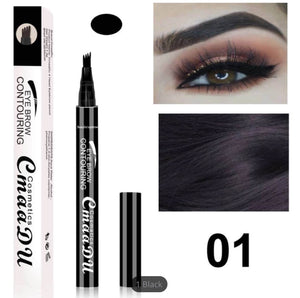 (BLACK) Microblading Eyebrow Tattoo Ink Pen & Liquid Eyeliner Pencil Combo!