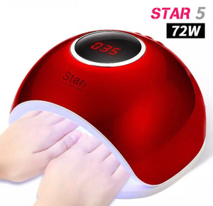 ** RED ** 72W UV LED Nail Lamp For Manicure Nail Dryer For All Gels
