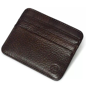 (COFFEE) Genuine Leather Card Holder, Men, Women Wallet