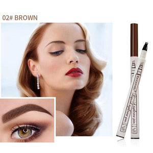 Waterproof Microblading Eyebrow Tattoo Ink Pen 4 Head Fork
