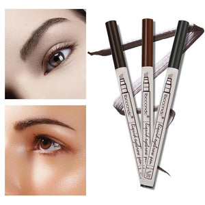 (BROWN) Waterproof Microblading Eyebrow Tattoo Ink Pen Fork