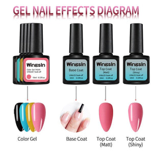 Gel Nail Polish Set With Lamp Manicure Set Nail Kit Tools For Manicure Set For Gel Varnish For Nail Art Pusher Kit