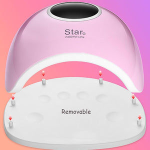 **GOLD** 72W UV LED Nail Lamp For Manicure Nail Dryer For All Gels