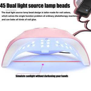 180W UV Lamp Nail Dryer Pro UV LED Gel Nail Lamp Fast Curing Gel Polish Ice Lamp for Nail Manicure Machine