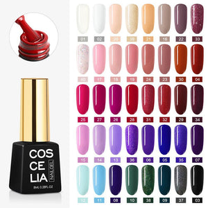 UV Nail Lamp Gel Nail Polish Set Tools For Manicure Set For Nail Art Semi-Permanent UV Varnish Tools For Manicure Nail Kit