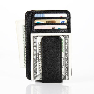 (BLACK) Money Clip - Credit Card Case, Mini Wallet