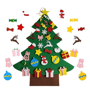 DIY Felt Christmas Tree Set Kit With 30pcs Removable Ornaments Felt Xmas New Year Toys Decorations Home Decor