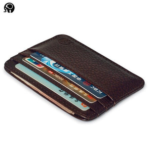 Genuine Leather Thin Card Case