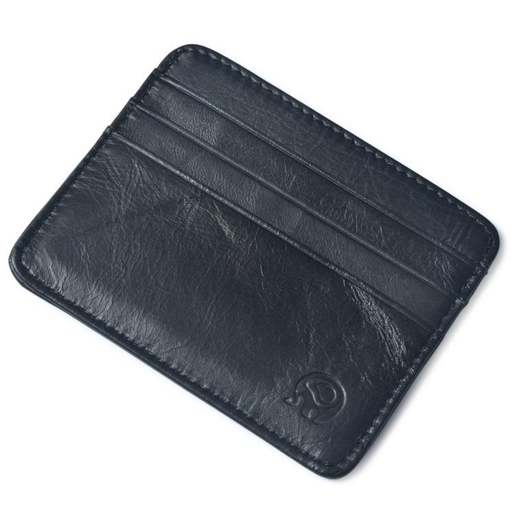 (BLACK) Genuine Leather Card Holder, Men, Women Wallet